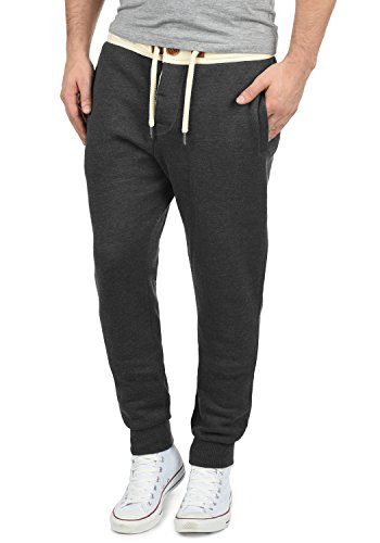 !Solid TripPant Herren Sweatpants Jogginghose Sporthose Mit Fleece-Innenseite Und Kordel Regular Fit, Größe:L, Farbe:Dark Grey Melange (8288)