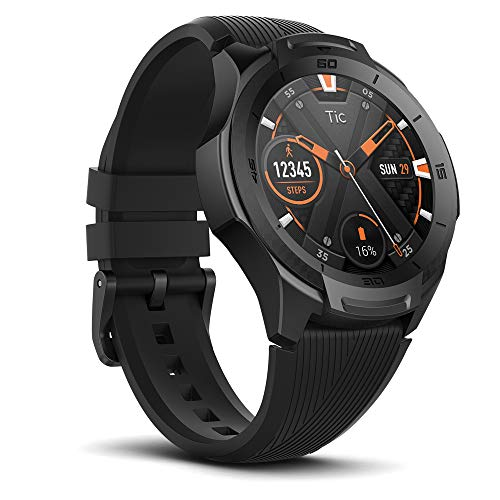 Ticwatch S2, Water Proof Smartwatch with Build-in GPS for Outdoor Activities, Wear OS by Google, Compatible with Android and iOS (Midnight)