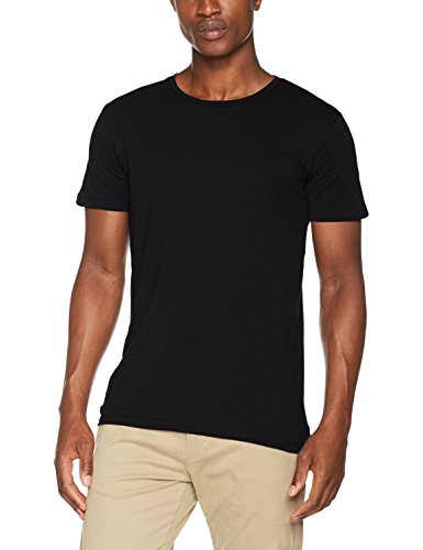 ESPRIT Herren T-Shirt 997EE2K819, Schwarz (Black 001), X-Large (T-shirt X-large)