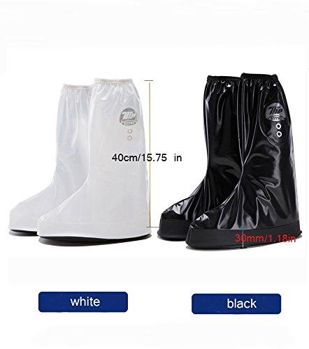Regenüberschuhe Wasserdicht Schuh (1Paar), Nasalmate Flache Regen Überschuhe Schuhüberzieher Rutschfestem Regenüberschuhe optimal vor Nässe, Schnee und Matsch Schwarz