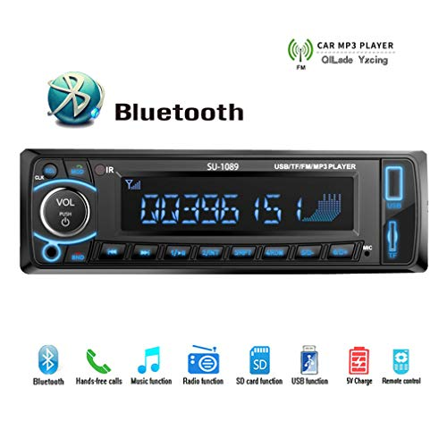 QILade Yzcing Autoradio Stereo-Player Bluetooth-Audio AUX-IN FM/USB/TF/WMA / 1 Din/Fernbedienung MP3-Recorder Autoradio / 4 '' LCD-Bildschirm Universal Super Audio Converter