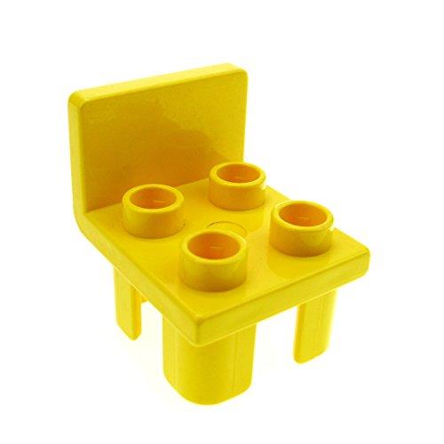 gelber Stuhl gelb Küche Wohnzimmer Schlafzimmer Puppenhaus Möbel Lego Duplo B62 (Gelbe Wohnzimmer Möbel)