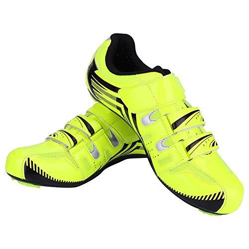 VGEBY1 Scarpe da Ciclismo, Bici da Corsa Scarpe da Ginnastica(43-Verde)