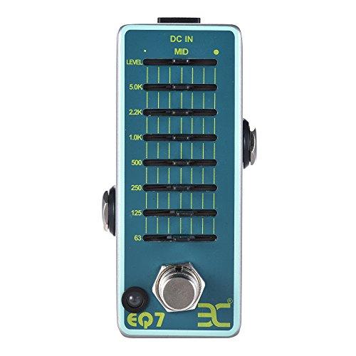Festnight Effektgerät Gitarre, Pedal EX EQ7 Gitarren Equalizer Effektpedal 7 Band EQ Vollmetall Shell True Bypass