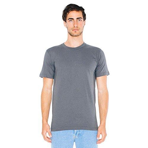 American Apparel - Unisex Fine Jersey T-Shirt / asphalt, M (Apparel American Asphalt)