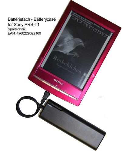 Spartechnik Batteriefach für Sony PRS-T1 eBook Reader PRS-T2 PRS T2 PRS T1 Digital Book. Externes Batterieladegerät für elektronische Buch - Ebook von Sony PRS T 1- schwarz