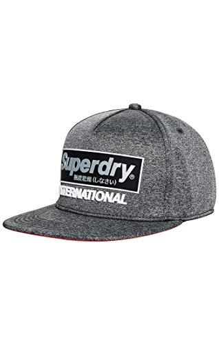 Superdry Herren International B.Boy Baseball Cap, Grau (Chrome Grey Grit C3v), One Size (Herstellergröße: OS)