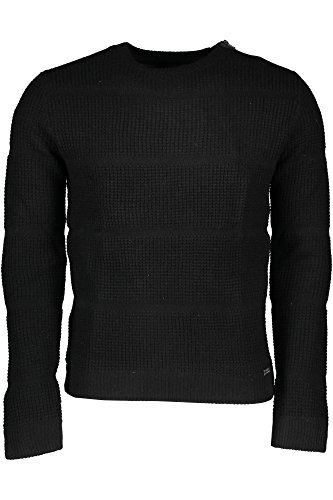 GUESS JEANS M63R37Z1CG0 MAGLIONE Homme Nero