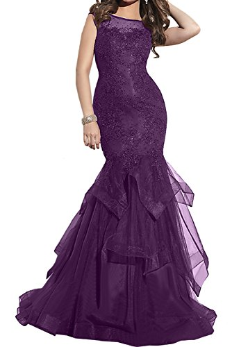 Toscana Facile da sposa un-spalla stanotte vestiti damigella Cocktail danza vestimento corta in raso uva