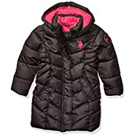 US Polo Association Girls' Toddler Outerwear Jacket (More Styles Available), long black, 2T