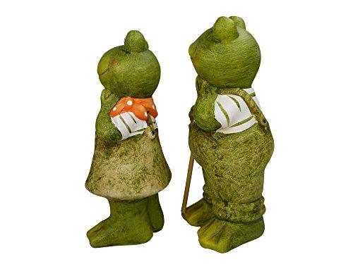 khevga Gartenfigur Gartendeko 2er Set Frosch - 2