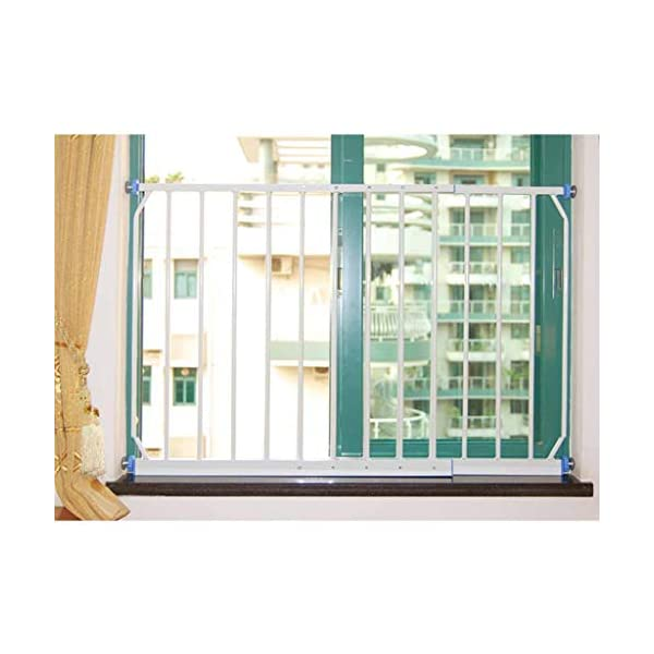 Huo Baby Safety Gate with 4 Pressured Adjustment Bolts for Window/Doorways, (Size : 260-335cm) Huo ◆ Safety Gates materials: strict selection of standard safety materials ABS plastic +iron pipe + environmentally friendly smooth surface spray ◆Strong bearing capacity:Mounts inside (recommended), easy to disassemble, no damage to the wall;Tested to withstand 150kg ◆ Safety Gates Tall Wide Large: Expands to ways and openings between 85-335cm wide. Stand 77cm tall. 1