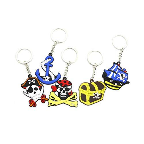 Toyvian 5 stücke Pirate Schlüsselanhänger Nette Nautische Thema Autoschlüssel Ringe Handtasche Anhänger Decor Pirate Nautical Party Favors für Kinder Erwachsene (gelegentliches Muster) (Party Favors Nautische)