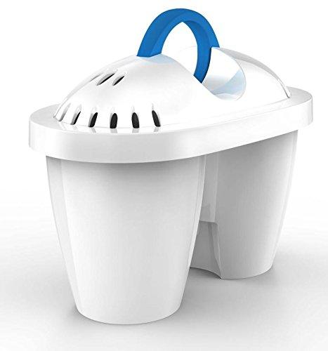 Terraillon - Cartuchos para jarra filtradora (3 piezas, plástico), color blanco