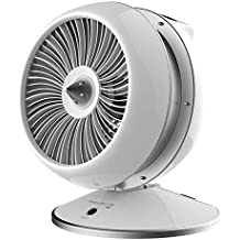 Rowenta HQ7112 Air Force Hot & Cool 2in1 Ventilator und Heizlüfter, 2600 W, LED Display, weiß/silber (Generalüberholt)