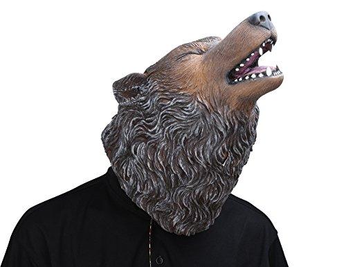 Party Story Wolf Latex Maske Neuheit Halloween Kostüm Latex Tierkopf Maske