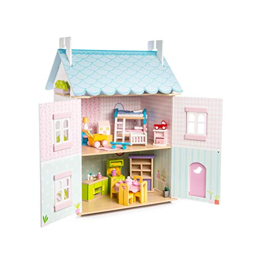 Le Toy Van H138, Blue Bird Cottage with Furniture