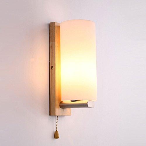 Personnalité créative Lampe à bois chaude Appel de ligne de traction Coupe en bois E27 Cap de lampe * 1 Lampe murale (sans ampoule) Disponible LED installée Lampe d'économie d'énergie ou ampoule à incandescence avec décoration nordique Corridor