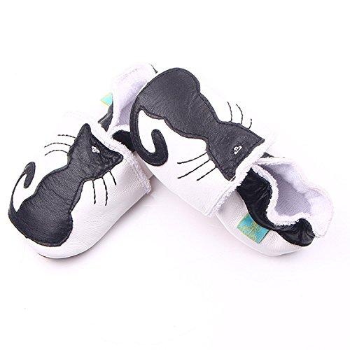 xhorizon TM MLK Soutien-gorge en cuir Unisex Baby Soft Toddler Shoes enfant chat