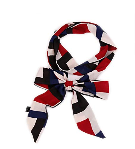 HIDOUYAL Damen Schmal Krawattenschal Skinny Satin Tie Scarf 200cm*4,5cm -