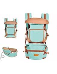 Portabebé cuatro estaciones multifuncional silla lumbar correas sostener cintura del bebé antes de heces heces , green