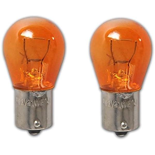 O 581 12V 21 W Chrome Look indicateur ampoule de voiture pour lentilles claires clignote amber x 2