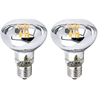 Bonlux 2-Pack dimmerabili R80 E27 LED filamento lampadina del riflettore 8W bianco caldo 2700K 60 Watt incasso sostituzione R80 vite ES LED Riflettore Lampada per Abitare Attività General Lighting