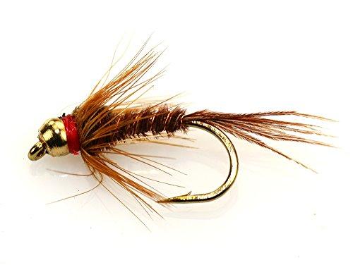 Direct BH mosche da pesca Pheasant Tail, Assortimento di esche per pesca alla trota, confezione da 12