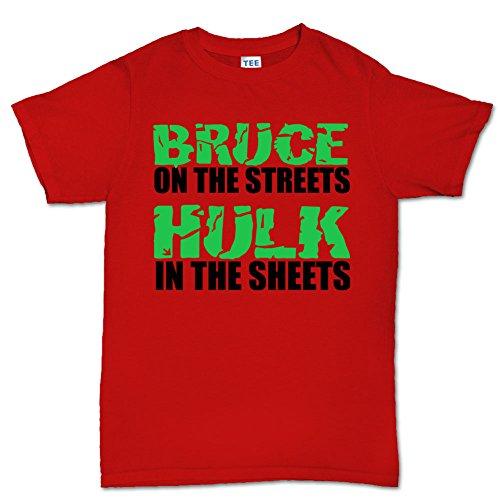 Bruce in the Streets Funny Mens (Unglaubliche Anzug Hulk)
