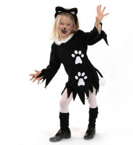 Fasching Karneval Kinder- Kostüm Kleid Kätzchen, Katze, Halloween: Größe: (Halloween Kätzchen Für Kostüme Katzen)