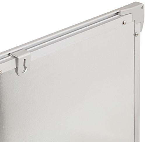 AmazonBasics Magnetisches Whiteboard mit Stiftablage und Aluminiumleisten, trocken abwischbar, 90x60cm (B x H) -