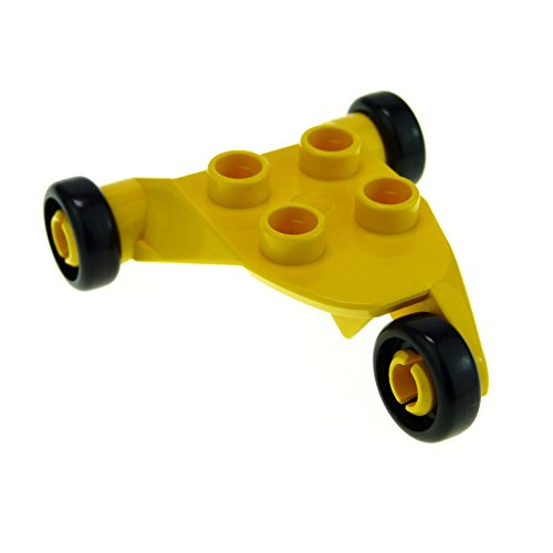 1 x Lego Duplo Flugzeug Fahrwerk gelb Fahrgestell klein Hubschrauber Dreirad 6356