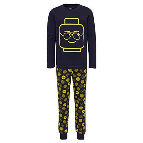 LEGO Jungen Wear cm Pyjama Set Zweiteiliger Schlafanzug, Blau (Dark Navy 590), (Herstellergröße: 140)