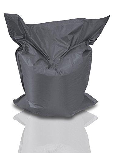 BuBiBag Sitzsack Sitzkissen Bean Bag Rechteck Größe 160 x 145 cm Indoor und Outdoor (anthrazit)
