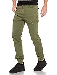 Deeluxe 74 - Jogger Pant Homme Kaki Poches Cargo ad3671413921