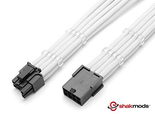 Shakmods 6+ 2pin PCIe tarjeta gráfica GPU blanco