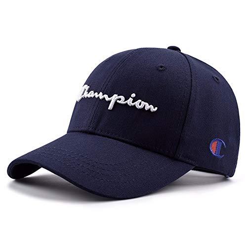 e Männer und Frauen Casual Cap Paar Reisen aus der Straße Hut Hip Hop Champion Cap (einstellbar), dunkelblau ()