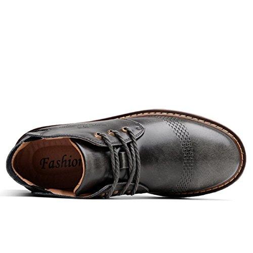 Scarpe Da Calcio Scarpe Casual Scarpe Da Uomo Nuovo In Pizzo Scarpe Da Lavoro Calzature Da Lavoro In Pelle GraySingleShoes