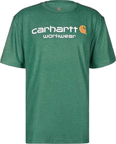 Carhartt Core Logo T-Shirt alpine green hthr (Aus Carhartt Shirt Baumwolle)