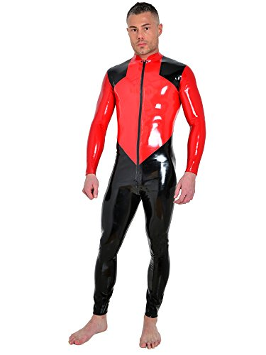 Honour Latex Obelus Catsuit M rot