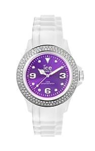 ICE-Watch - Montre femme - Quartz Analogique - Ice-Star - White - purple - Unisex - Cadran Violet - Bracelet Silicone Blanc - IPE.ST.WPE.U.S.12