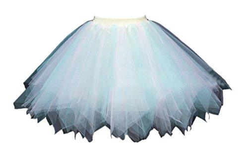 Honeystore Damen's Tutu Unterkleid Rock Abschlussball Abend Gelegenheit Zubehör Minze und ()