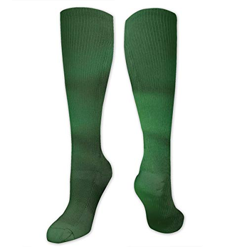 Unisex Highly Elastic Comfortable Knee High Length Tube Socks,Abstract Pattern With Color Wave In Green Shades And Ombre Effect,Compression Socks Boost Stamina,Forrest Green Pale Green