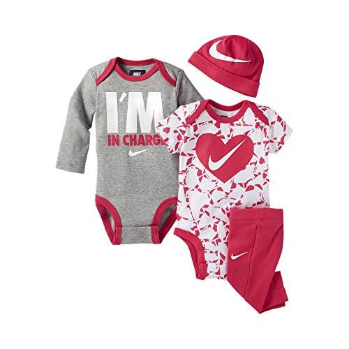Nike Neugeborenen 6 Monate Baby Mädchen 4-teiliges Set dunkel HYPER Rosa 06b562-a72