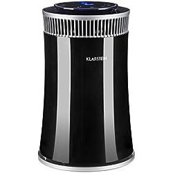 Klarstein Arosa • Luftreiniger • Lufterfrischer • Ionisator • Automatik- und Schlafmodus • Timer • bis 20 m² • leiser Betrieb • farblicher Luftsensor für Verschmutzungsgrad • inkl. Filter • schwarz