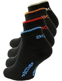 """Lot de 8 paires de socquettes, noir ou blanc, avec l'inscription """"active"""" - coton peigné - homme"""