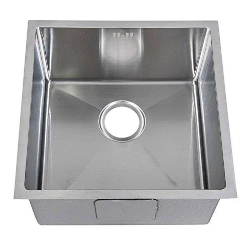 Bowl Undermount Kitchen (Klein Handgefertigtes eckiges (10mm Radius) Küchen Spülbecken für den Unterbau. Gebürstete Edelstahl Unterbauspüle (DS015))