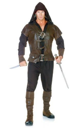 Assassin Attentäter Kostüm für Erwachsene - (Schwertkämpfer Halloween Kostüm)