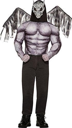 Gargoyle Kostüm - Erwachsene Herren Halloween Kostüm Party Gargoyle Kostüm Brust Größe 42