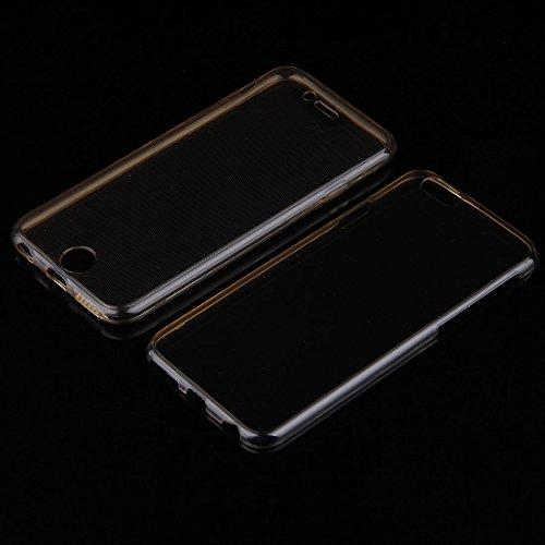 Phone case & Hülle Für iPhone 6 / 6s, 0.75mm doppelseitiger ultradünner transparenter TPU Schutzhülle ( Color : Black ) Gold